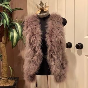 Feather vest